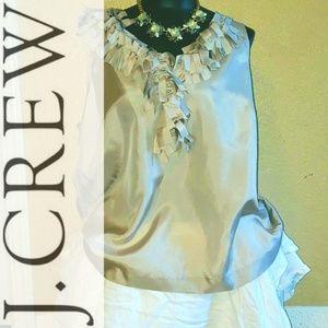 J.Crew Light Grey/Silver Sleeveless Blouse